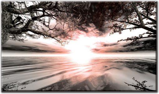 obraz zachód słońca