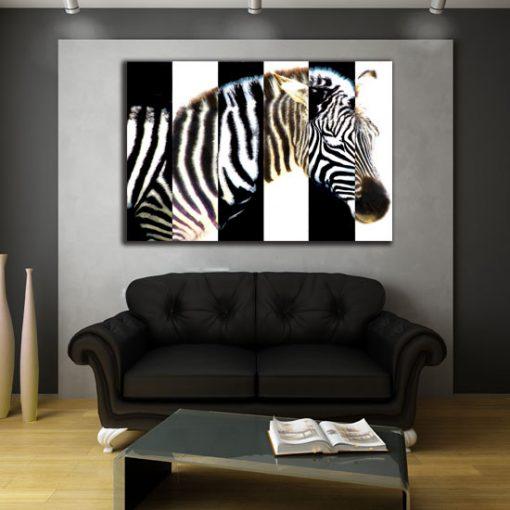 ozdoby ścienne zebra