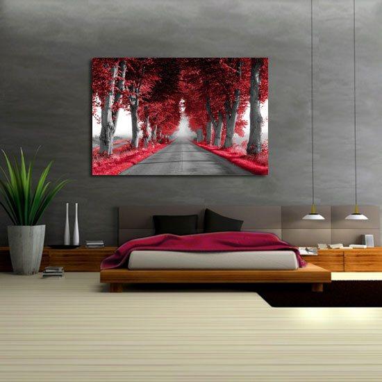 Obraz Czerwone Drzewa