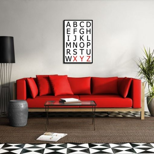 obrazy typografia