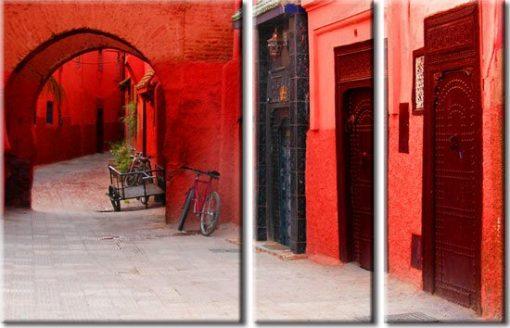 obraz czerwona uliczka