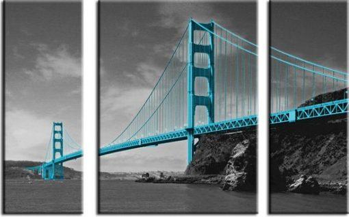 obraz tryptyk Golden Gate