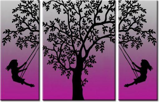 obraz tryptyk drzewo