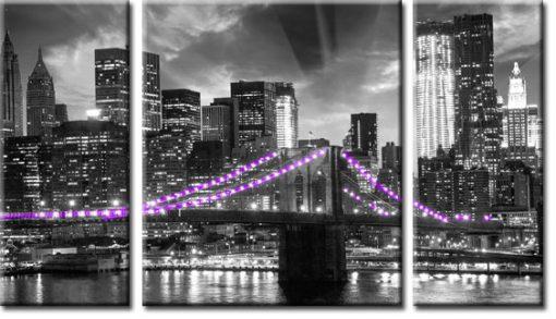 obraz tryptyk most Brookliński