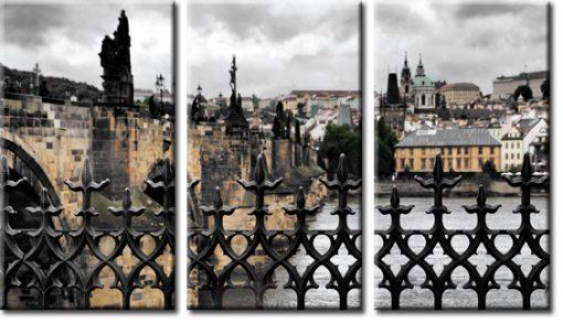 obraz tryptyk Praga
