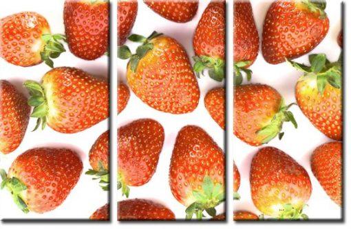 obraz tryptyk truskawki