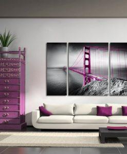obraz tryptyk most Golden Gate
