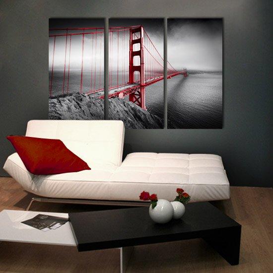 Golden Gate Obraz świetny Do Ozdoby Nowoczesnych Wnętrz