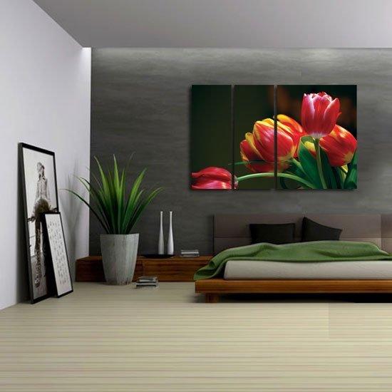 tryptyk czerwone tulipany