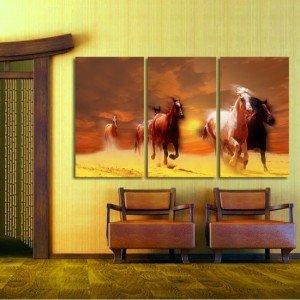 tryptyk w galopie - Obrazy konie