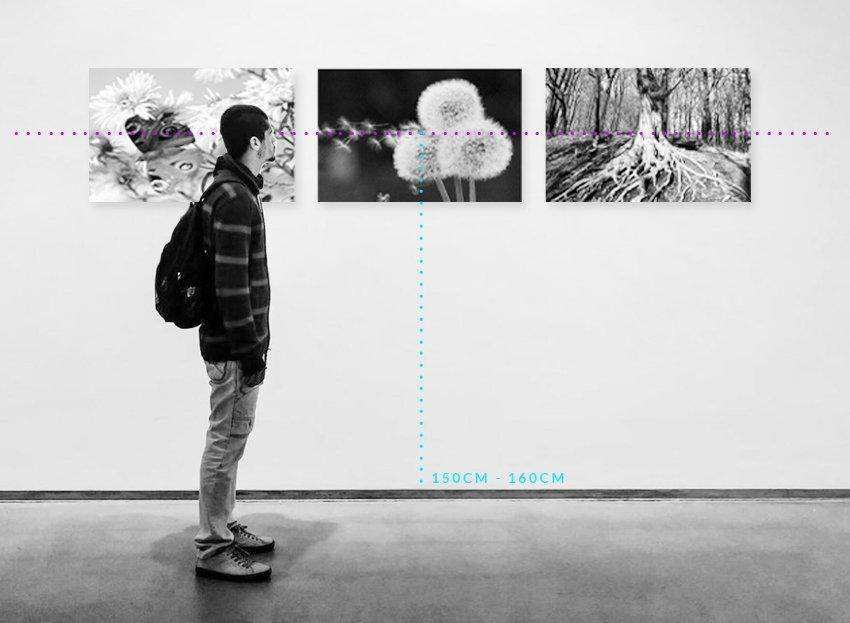 jak wieszać obrazy na ścianie