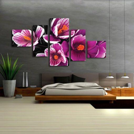 kaskady z kwiatami
