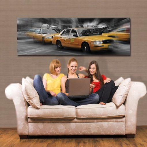 obrazy z taksowkami