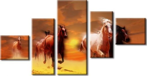 obraz konie w galopie