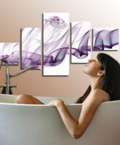 obrazy z fioletem
