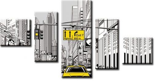 obraz z taksówką