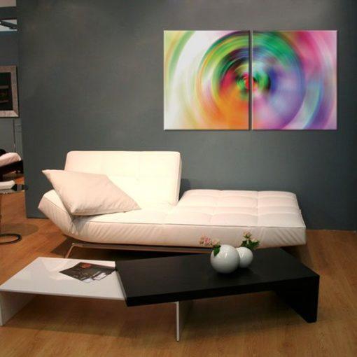 dyptyk z pastelami