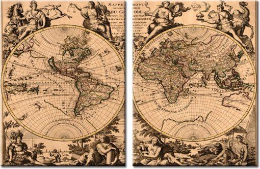 obrazy stara mapa