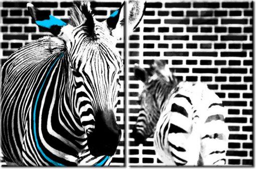 dyptyk zebry i tekstura