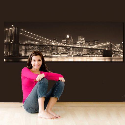 obrazy z mostem