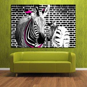 obraz do jadalni zebry