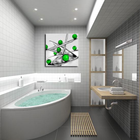 obraz zielone kulki