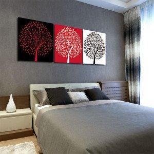 tryptyk kolorowe drzewa