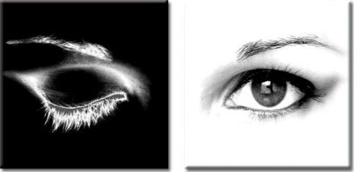 dyptyk czarno-biały