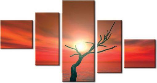 kaskady z zachodem słońca