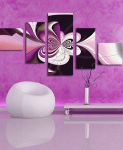 fioletowa abstrakcja
