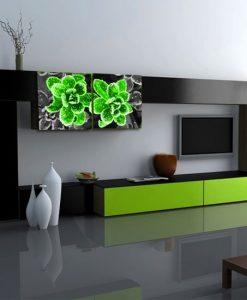 dekoracja zielona
