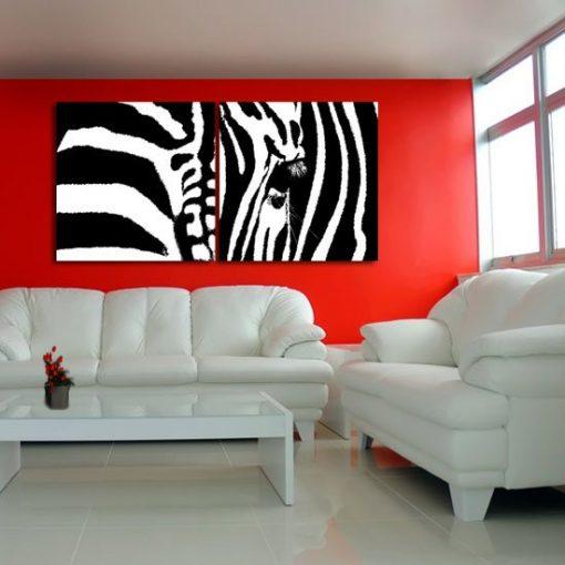 dyptyki z zebram i