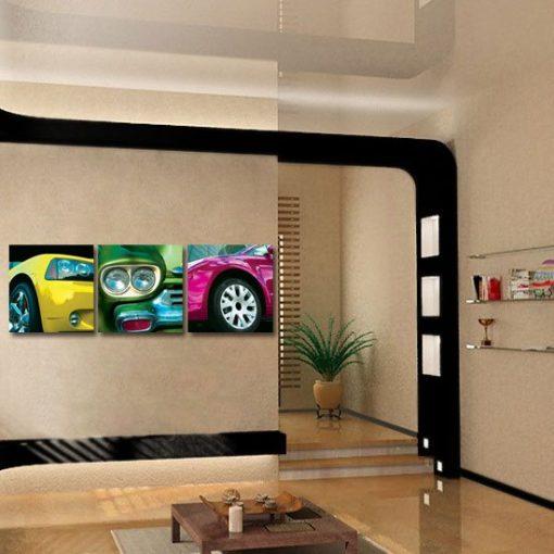 dekoracja z autami