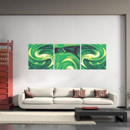 dekoracja z abstrakcją