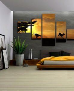 dekoracje z zachodem slońca