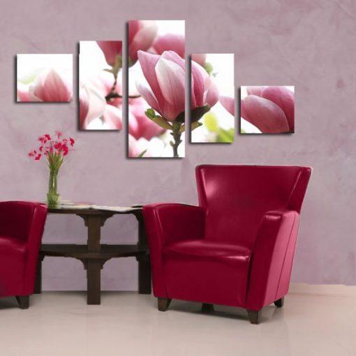 dekoracje z magnoliami