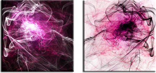 obrazy z różową abstrakcją