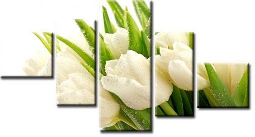 kaskada z tulipanami