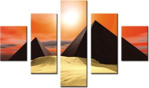 kaskada z piramidami