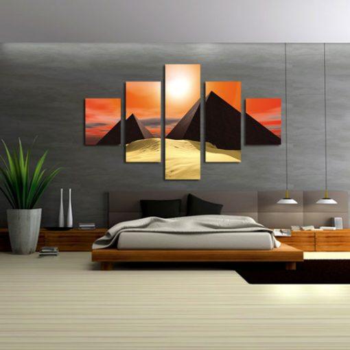 dekoracje z piramidami