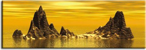 obrazy skały w wodzie