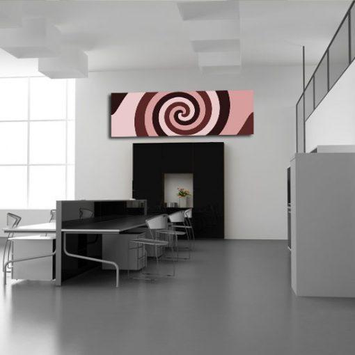 dekoracja z spiralą