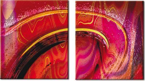 obraz czerwona abstrakcja