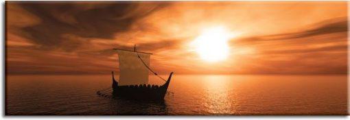 obraz z łodzią
