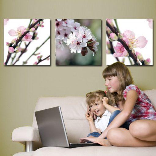 obrazy z kwiatami