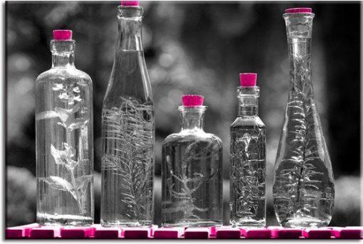 obrazy z butelkami