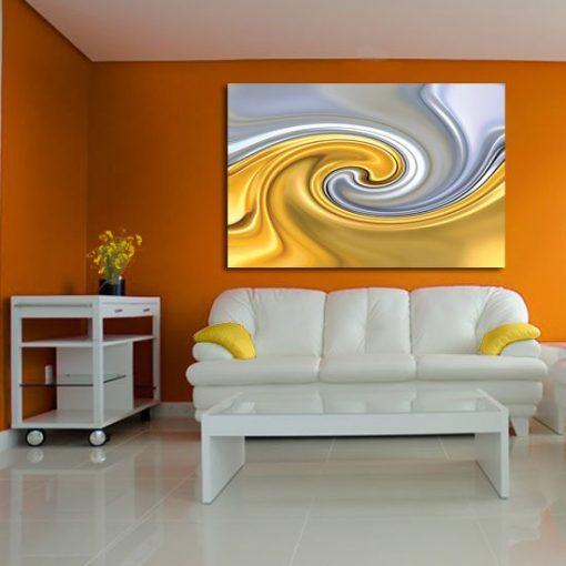 dekoracja z abstrakcja