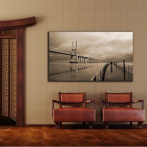 dekoracja z mostem