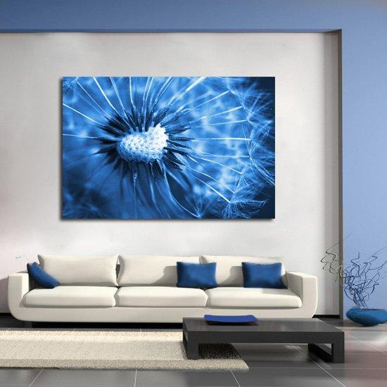 obraz niebieski dmuchawiec