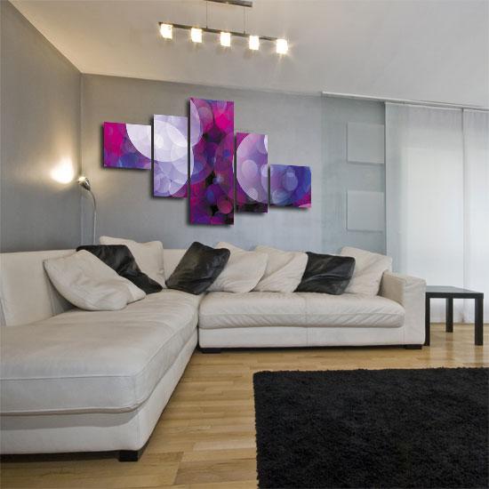 Kolorowe obrazy nowoczesne z abstrakcją